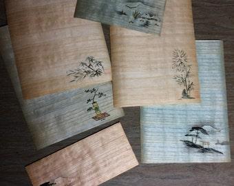 Vintage Bamboo Stationary
