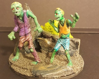 Zombie Apocalypse miniature diorama #4