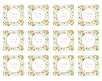 PRINTABLE Favor Tags - Shabby Chic Party Collection - Dandelion Design Studio