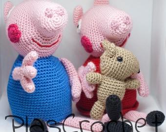 Amigurumi Tutorial Peppa Pig : Peppa pig amigurumi etsy