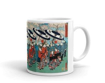 Courtesans of Sanochoya 19th Century,  Mug made in the USA