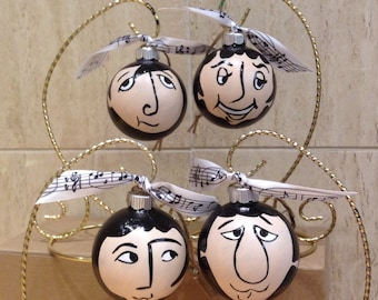 The BEATLES Ornaments (set of four)