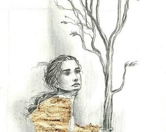 woodland faery fantasy ilustration