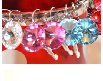 Swarovski rivoli earrings set in silver