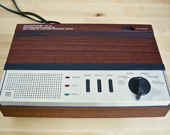 1980's Answering Machine ~ Duofone Dual Cassette Telephone Answering System ~ Model TAD-311