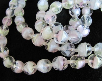 Vintage Faceted Italian Glass Bead Necklace