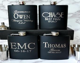 Personalized Gift for Him, Groomsmen Gift, Engraved Flask, Groomsman Gift, Personalized Flask, Hip Flask, Wedding, Best Man Gift, Usher Gift