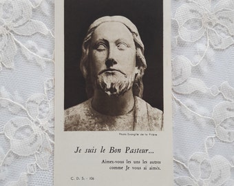 1927 - I am the Good Shepherd - Je suis le Bon Pasteur - 25th Anniversary of Ordination Religious Card Holy Card