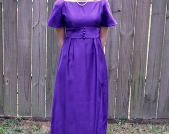 Vintage 60s Purple Formal Dress Extra Small