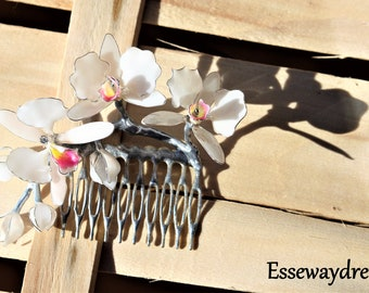 orchid hair comb