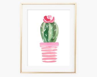Cactus Print, Cactus Decor, Cactus Art, Cacti Print, Cactus Wall Art, Watercolor Cactus Print, Watercolor Cactus, Cactus Poster