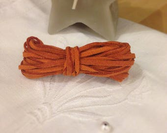 Burnt Orange suede cord