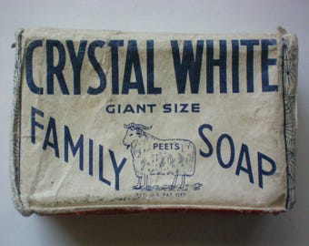 Vintage Crystal White Family Soap - 5815