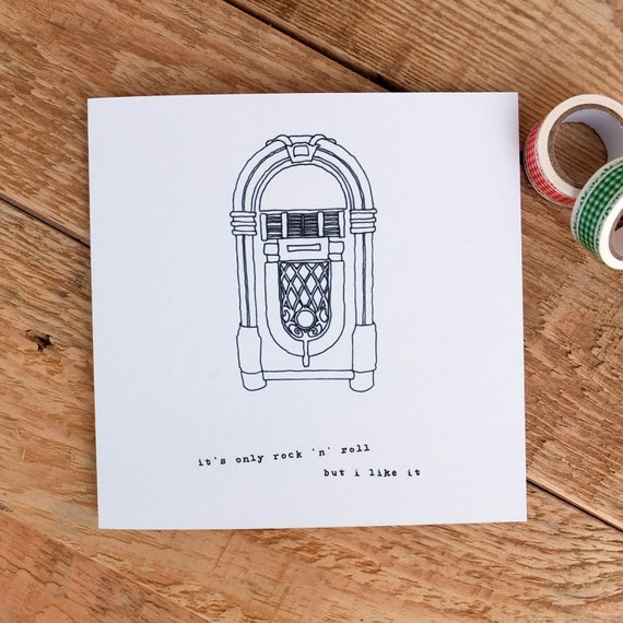 Birthday Card For Music Lovers Birthday Card For Dad Card