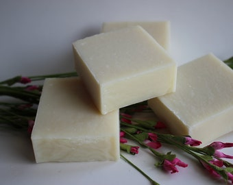 Natural handmade Soap No Fragrance or Color.  Naked and Exposed Soap