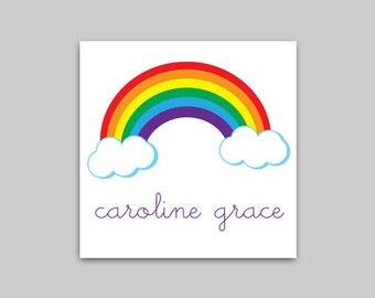 RAINBOW Calling Cards or Gift Label Stickers