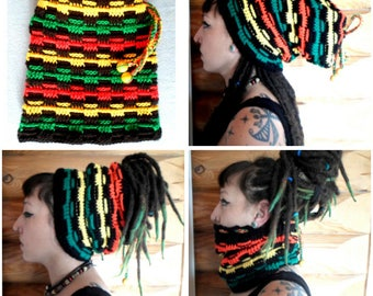Hat for dreads 204 produced entirely by hand crochet!