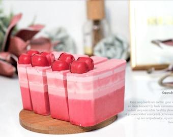 Strawberry Cake Soap Bar