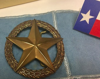 Retired James Avery Bronze Star Belt Buckle