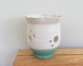 Handmade Orchid Planter, Pottery, Ceramic Orchid Planter, Gift for Gardener, Gift for Her, Ready to Ship