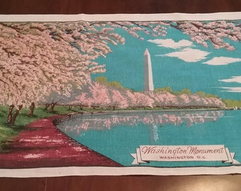 Linen tea towel - Washington Monument  Washington DC print