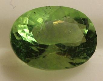 Fluorite Green 1.48cts Oval Cut 8.03 x 6.06mm H4 Belgium y9377 Green Gem Loose Faceted Gemstone Collector Gemology Gemological