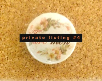 Private listing # 4 - 25mm Feminist Button Badge