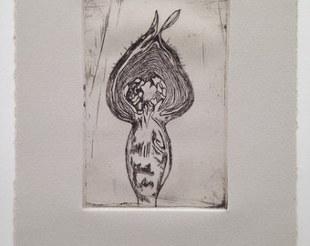 Seed Pod (medium) Intaglio Print