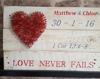 Rustic Wedding Wall Sign
