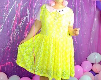 Yellow Daisy Baby Party Dress