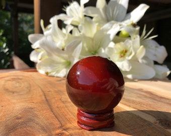 Red Carnelian Sphere