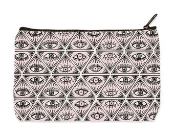 Eyes Canvas Zip Pouch