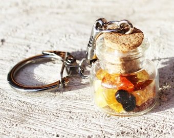 Baltic amber Keyrings (keychains), perfect unique gift for Christmas