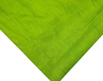 Chartreuse Raw Silk Fabric - Indian Silk Fabric - Pure Silk Dupioni - Raw Mulberry Silk - Raw Silk - Indian Dupioni Silk -Dupioni Silk