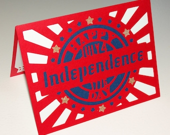 Independence day, greeting card with envelope