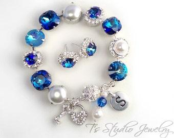 Pacific Ocean Bermuda Blue Bracelet- 12mm
