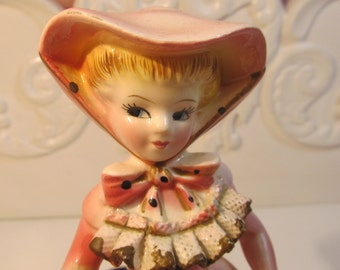 Lefton Southern Bell Lady Figurine Shabby Chic Decor