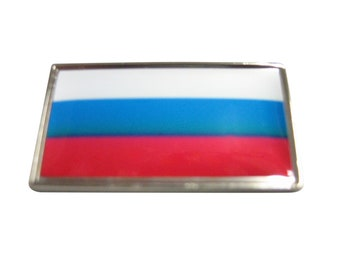 Thin Bordered Russia Flag Magnet