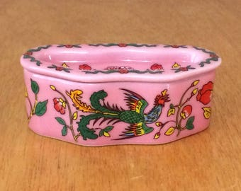 Del Prado Porcelain Pill Trinket Box - Hand Painted, EP 48