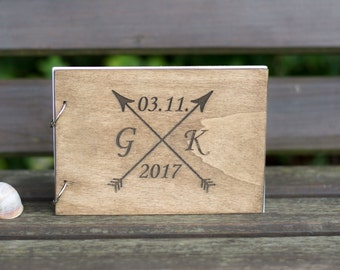Wedding Guest Book Rustic Wooden Guestbook Wood Wedding Guest Book