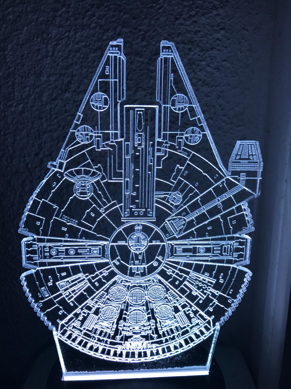 Star Wars Inspired Millennium Falcon Nightlight Desk Light