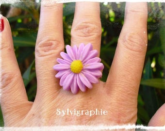 Purple Daisy ring