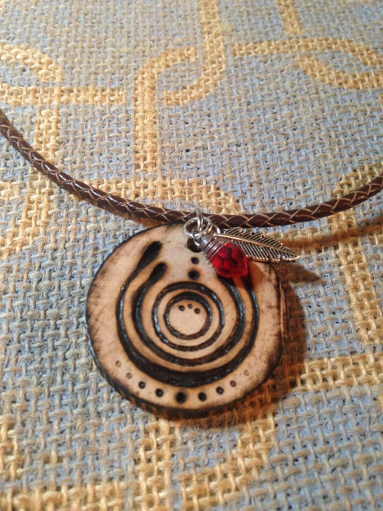 Necklace With Pendant Wooden Pendant Necklace Strength