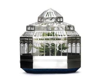 Botanical plant house model kit; a miniature metal greenhouse