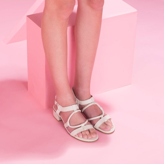 On White Side Sandals Sandals Shoes Sandals Buckle Bride Sandals Slip Shoes Sandals Leather Summer Handmade SSOwF4q