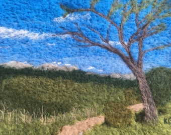 East of Kenosha Pass - Felted wool landscape from Colorado Trail, perfect wall art for hiker, backpacker, or mountain biker