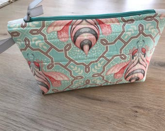 "Tula Pink ""Bumble"" fabric zipper pouch"