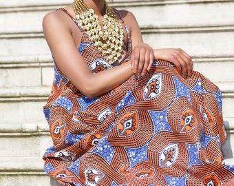 Ankara print maxi dress/ African print maxi dress/ african womens clothing/ maxi dress - Lady Seray- by GITAS Portal