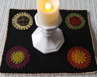 Farmhouse Decor Penny Rug Candle Mat Beaconhillcollect Collectibles
