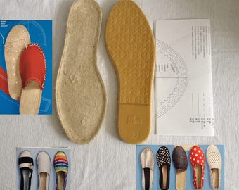 Soles for create shoes + pattern DIY creations shoe ornament was